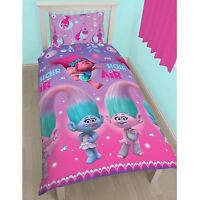 Trolls Brille Set Housse de Couette Simple Rotatif Enfants Literie Officiel