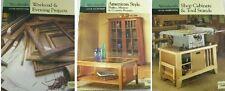 3 Woodsmith Books Carpenter Custom Woodworking Shop Cabinets Shaker Style B-18
