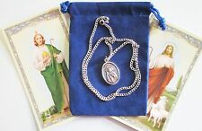 Set of Two (2) St. Jude Saint Medals with 18 Inch Necklaces
