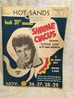 1964 Shrine Circus Program Michael Landon as Little Joe of Bonanza Evansville IN