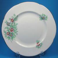 Adderley Bone China Salad Dessert Plate Lawley England 312 Pink Purple Flowers