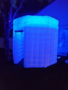 White Octagon Inflatable Photo Booth With LED Lights, Remote Control, USA Seller