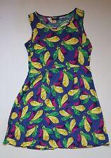AP17  Indulgence Feathered Floral Dress Size 10 Summer Dress Skater Tea Dress