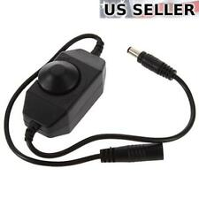 Inline Manual Dimmer Switch for LED Strip Light, Black