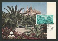 Spain Mk 1967 Palma de Mallorca catedral maximum mapa maximum card mc cm c9071