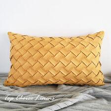 30cm x 50cm Home Sofa Decor Suede Like Chevon Cushion Cover- Marigold