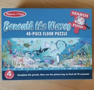 "Melissa & Doug Ocean Floor Puzzle ""Beneath the Waves"" Search & Find COMPLETE"