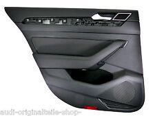 VW PASSAT 3g b8 Variant POSTERIORE SINISTRO PORTA PANNELLO PELLE NERA