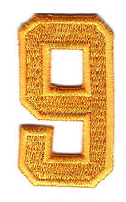 "NUMBER-Golden Yellow  Number ""9"" (1 7/8"") - Iron On Embroidered Applique/Numbers"