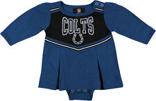 BRAND NEW! NFL Indianapolis Colts Newborn Baby Girl Cheerleader Creeper 0-3 mon