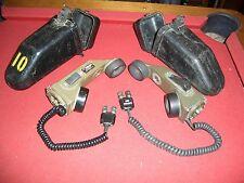 2 LOT MILITARY SURPLUS FIELD PHONE RADIO TA-1 TELEPHONE SURVIVAL GEAR PAINT BALL