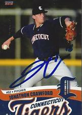 Jonathon Crawford 2013 Connecticut Tigers Signed Card