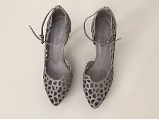JIL SANDER Gourgeous Lace Stiletto  Shoes,  Grey Size 36 uk 4 Heels Italy Alaia