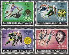 Ras al Khaima 1969 used Mi.312/15 A Olympische Spiele Olympic Games Mexiko