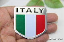 D428 Italien-Flagge auto aufkleber Italy flag 3D Emblem Plakette car Sticker Alu