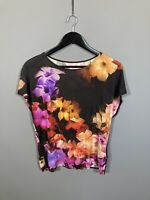TED BAKER Top - Size 2 UK10 - Floral - Great Condition - Women's