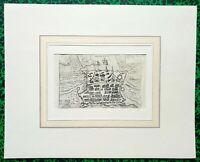 XVIII ème - Dépt 17 - Plan de La Rochelle par Raffaello Savonarola  30x24 - 1713