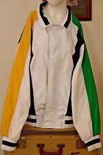 London Fog Men's Towne Jacket~Size Large~White~Navy Blue~Green~Yellow~Vintage