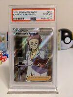 Professors Research Full Art #201 Pokemon TCG Sword and Shield PSA 10 Gem Mint
