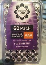 60 Pack of  AAA 1.5V Alkaline  LONG-LASTING  Batteries Bulk Expire 2026