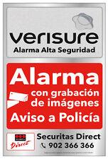 3x Pegatina Cartel Vigilancia Seguridad Alarma