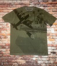 Raw-7 Luxury Tee Shirt Large Plane Military Navy Affliction, MMA Nordstrom Soft
