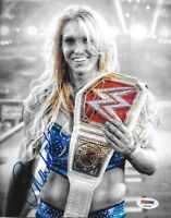 CHARLOTTE FLAIR WWE DIVA SIGNED AUTOGRAPH 8X10 PHOTO #3 PSA/DNA COA