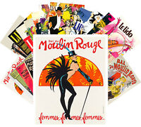Postcards Pack [24 cards] Moulin Rogue and Lido Cabaret Vintage Posters CC1085