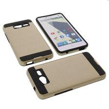 Alu Bumper für ZTE Blade L3 Smartphone Handytasche Schutzhülle TPU Case Gold