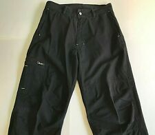 55 DSL black Cargo Pants 31x32 with Zippered Pockets 100% cotton VG!