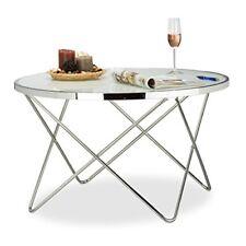 Relaxdays 10021280 Tavolino da salotto Argento 85x85x48 cm