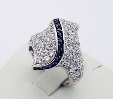 "QVC Designer ""LD"" CZ Ring in Sterling Silver Size 6"