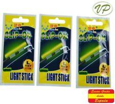 """Luz quimica  Light Stick Avisador de Picada """"L""""  (3 packs. 6 pcs). starli Pesca"""