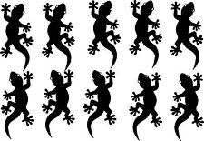 Autoaufkleber Sticker Tattoo - 10 Geckos in jeweils 10cm x 4,5cm -Artikel 600