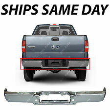 NEW Chrome Steel Rear Bumper Face Bar for 2006-2008 Ford F150 & Lincoln Mark LT
