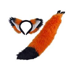 Pawstar Furry Fox Orejas & Cola Set-Disfraz Felpa Marrón Naranja Negro [o/negro] 4007