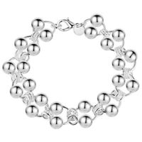 """925 Sterling Silver Bead Bracelet Kid's Childrens Small Sizes 5"""" 5.5"""" 6"""" 7"""" D295"""