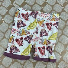 Burts Bees Baby Girls Size 18 Month Shorts White Purple Butterfly Print Organic