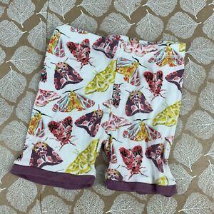 Burts Bees Baby Size 18 Month Shorts White Purple Butterfly Print Organic