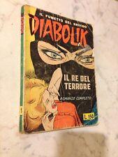"""Diabolik n. 1 Prima Serie"""" Il re del terrore """" 1962 Sodip,versione barzelletta"""