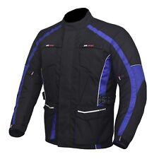 hombre Chaqueta Moto Motocicleta Tela Impermeable con CE PROTECTORA 5 colours