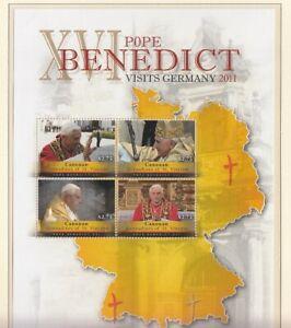 St. Vincent  Canouan  190 - 93  Kleinbogen   Papst Benedikt XVI. ** (mnh)