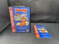 SEGA GENESIS RAPLACEMENT CASE & MANUAL ONLY (NO GAME) PUGGSY