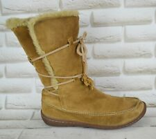 CAMPER Brown Nubuck Leather Womens Mid-Calf Winter Boots Shoe Size 6 UK 39 EU