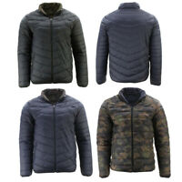 FIL Men's Reversible Camo Puffer Jacket Windproof Zip Pockets Puffy Winter Coat