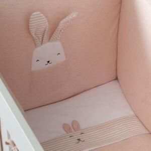 Nanan Studio Set Piumone con Paracolpi per Lettino Coniglietto Rosa