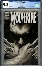 Wolverine V3 #55 CGC 9.8 NM/MT Black & White Variant Death of Sabretooth WHITE