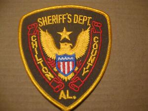 CHILTON COUNTY ALABAMA SHERIFF POLICE PATCH (STOCK EAGLE)