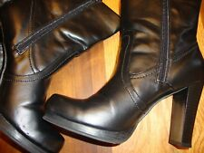 """Bongo Black Synthetic High 4"""" Heel Dress Ankle Boots 8.5 M GUC     141"""