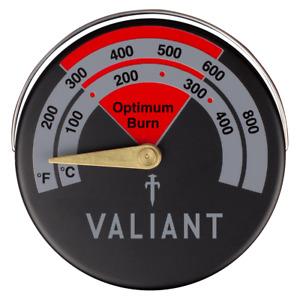 Valiant Magnetic Log Burner Stove Thermometer - Red / Black - FIR138